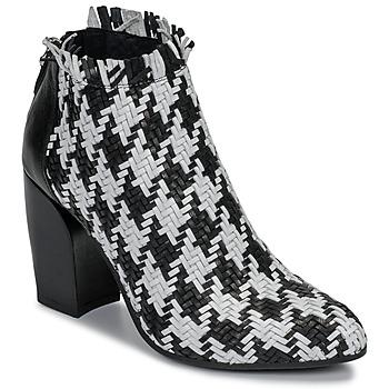 Chaussures Femme Low boots Mimmu JESTINE Noir / Blanc
