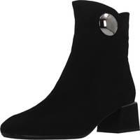 Chaussures Femme Bottines Café Noir HA940 Noir