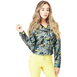 Vêtements Femme Blousons Guess Veste imprimé Toucan vert multi W82L04