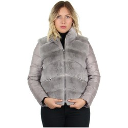 Vêtements Femme Doudounes Pallas Cuir Doudoune bi-matière fourrure ref_47378 gris Gris
