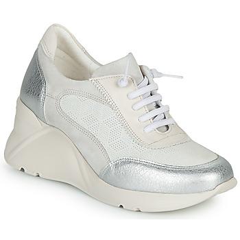 Chaussures Femme Baskets basses Hispanitas TOKIO Blanc / Argent