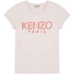 Vêtements Fille T-shirts manches courtes Kenzo LOGO JG 3 CAMISETA rose