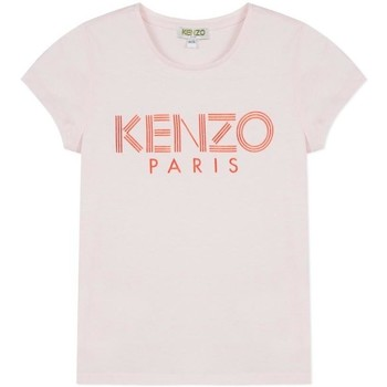 Vêtements Fille T-shirts manches courtes Kenzo Kids LOGO JG 3 CAMISETA rose