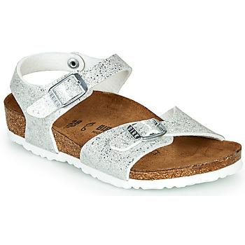 Chaussures Fille Sandales et Nu-pieds Birkenstock RIO Silver
