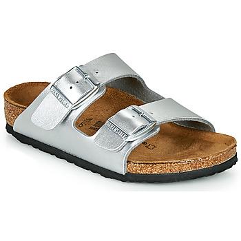 Chaussures Fille Mules Birkenstock ARIZONA Silver