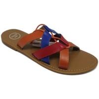 Chaussures Femme Sandales et Nu-pieds Golden Sun Victory Bleu / Rouge / Orange
