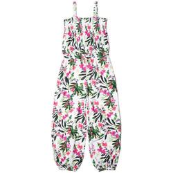 Vêtements Enfant Combinaisons / Salopettes Guess Combinaison imprimé Fille Floral Blanc J82K22 1