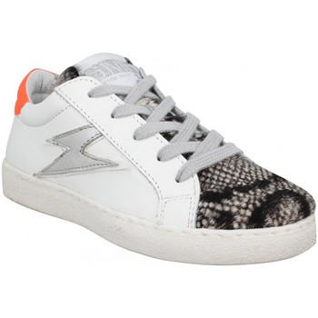 Chaussures Enfant Baskets basses Semerdjian Eloise cuir pony Enfant Blanc Orange Blanc