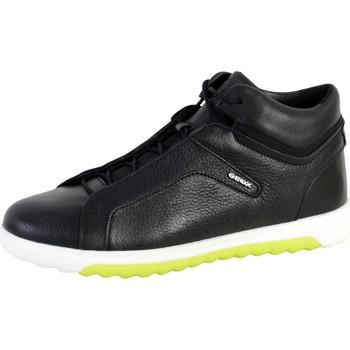 Chaussures Homme Baskets mode Geox Basket U Nexside A - TUMB.LEA+NAPPA Noir