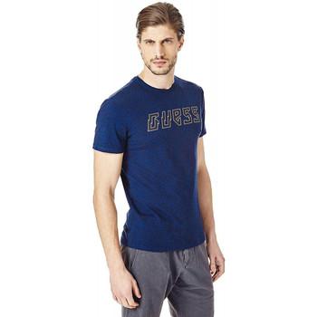 Vêtements Homme T-shirts manches courtes Guess T-Shirt Homme Geoptical Bleu Bleu