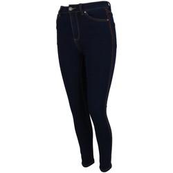 Vêtements Femme Jeans slim Treeker9 Cleveland w strass Bleu marine / bleu nuit