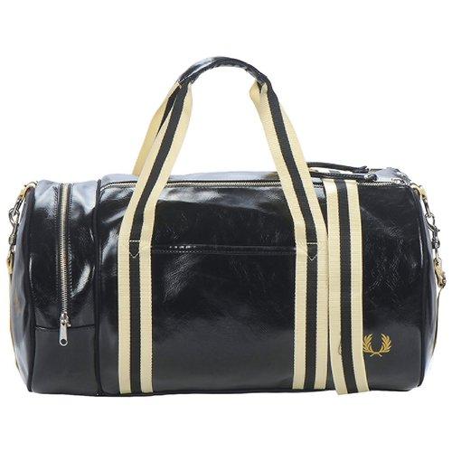 Sacs de sport Fred Perry CLASSIC BARREL BAG Noir / Doré 350x350