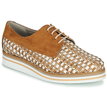 Chaussures Femme Derbies Dorking ROMY Marron / Blanc