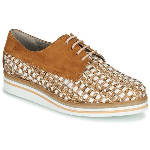 Chaussures Femme Derbies Dorking ROMY Marron / Blanc