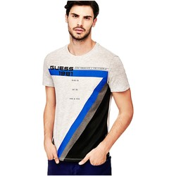 Vêtements Homme T-shirts manches courtes Guess T Shirt Homme Bewilder Gris M82I18 Gris