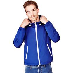 Vêtements Homme Coupes vent Guess Veste Coupe-Vent Homme Super Light Hooded Bleu Bleu