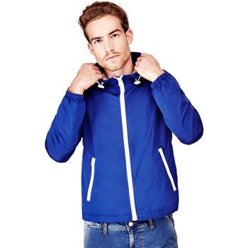 Coupes vent Guess Veste Coupe-Vent Homme Super Light Hooded Bleu