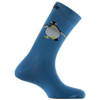 Accessoires textile Homme Chaussettes Achile Mi-chaussettes motifs manchot en coton Bleu