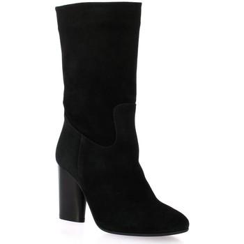 Chaussures Femme Bottes ville Pao Boots cuir velours Noir
