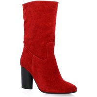 Chaussures Femme Bottes ville Pao Boots cuir velours rouge