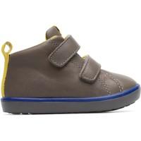 Chaussures Enfant Baskets montantes Camper Baskets velcro cuir PURSUIT gris