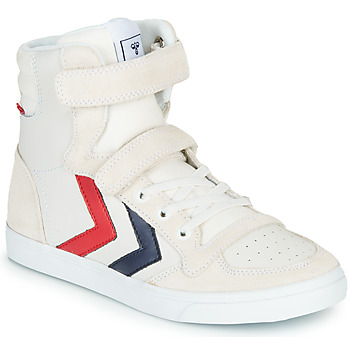Chaussures Enfant Baskets montantes Hummel SLIMMER STADIL LEATHER HIGH JR Blanc