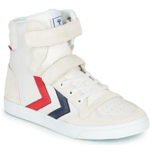 Chaussures Enfant Baskets montantes Hummel SLIMMER STADIL LEATHER HIGH JR Blanc