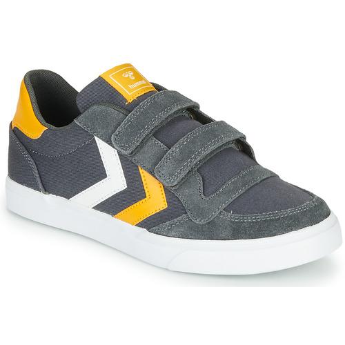 Chaussures Enfant Baskets basses Hummel STADIL LOW JR Gris