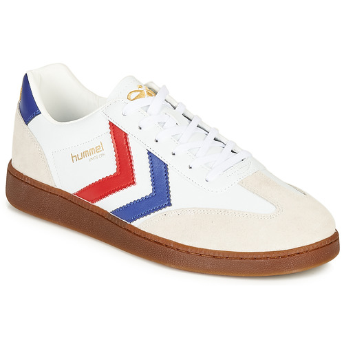 Chaussures Homme Baskets basses Hummel VM78 CPH LEATHER Blanc / Rouge / Bleu