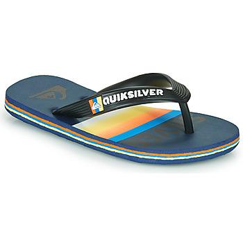 Chaussures Enfant Tongs Quiksilver MOLOKAI SLAB Bleu / orange / noir