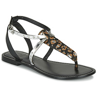 Chaussures Femme Sandales et Nu-pieds Les Petites Bombes ALIX Noir / Argenté