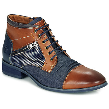Chaussures Homme Boots Kdopa BILLY Marron / Bleu