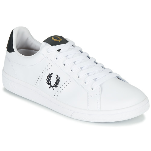 Chaussures Homme Baskets basses Fred Perry B721 LEATHER Blanc