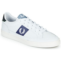 Chaussures Homme Baskets basses Fred Perry B8198 LEATHER / WHITE / NAVY Blanc
