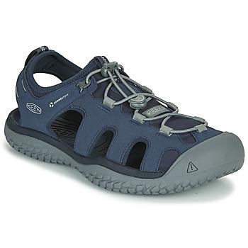 Chaussures Homme Sandales sport Keen SOLR SANDAL Bleu / Gris