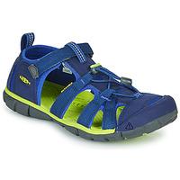 Chaussures Enfant Sandales sport Keen SEACAMP II CNX Bleu / Vert