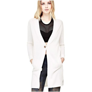 Vêtements Femme Gilets / Cardigans Guess Cardigan Femme Edith Blanc 1