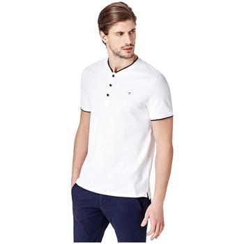 Vêtements Homme Polos manches courtes Guess T Shirt boutons Oliver Henley Blanc m82p09 1