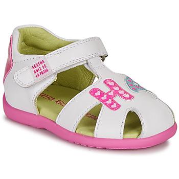 Chaussures Fille Sandales et Nu-pieds Agatha Ruiz de la Prada HAPPY Blanc / Rose