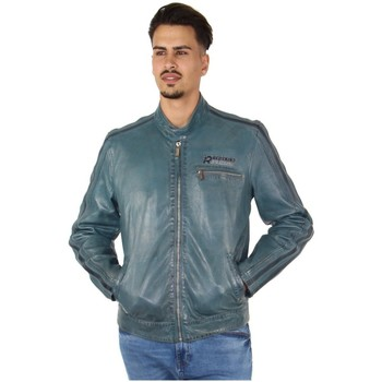Vêtements Homme Blousons Redskins Blouson cuir  ref_45733 Bleu bleu
