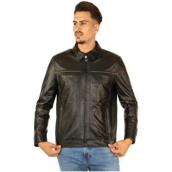 Vêtements Homme Vestes Pallas Cuir Veste en cuir d'agneau ref_47465 Noir noir
