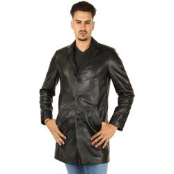 Vêtements Homme Vestes Pallas Cuir Veste longue en cuir d'agneau ref_46136 Noir noir