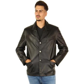 Vêtements Homme Vestes Pallas Cuir Veste en cuir d'agneau ref_28361 Noir noir