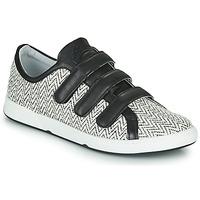 Chaussures Femme Baskets basses Pataugas JULIETTE Noir / Blanc