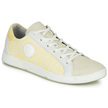 Chaussures Femme Baskets basses Pataugas JUNE/N Creme / Jaune