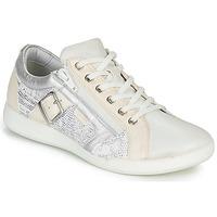 Chaussures Femme Baskets basses Pataugas PAULINE/S Blanc / Argenté