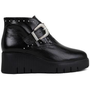 Chaussures Femme Bottines Wonders E-6209 Noir