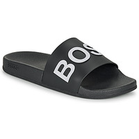 Chaussures Homme Claquettes BOSS BAY SLID RBLG Noir / Blanc