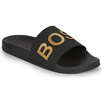 Chaussures Homme Claquettes BOSS BAY SLID RBLG Noir