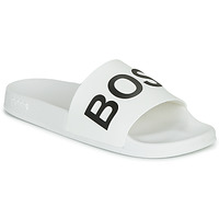 Chaussures Homme Claquettes BOSS BAY SLID RBLG Blanc / Noir